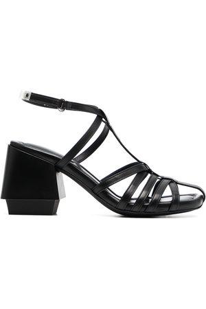 Premiata Strappy leather block-heel sandals