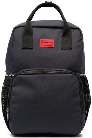 Emporio Armani Boys Rucksacks - Logo-patch backpack