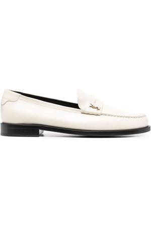 Saint Laurent Le Loafer Monogram flat loafers - Neutrals
