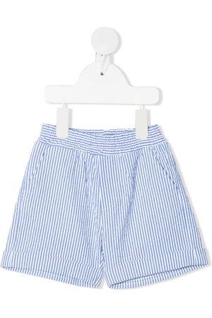MONNALISA Shorts - Pinstripe cotton shorts
