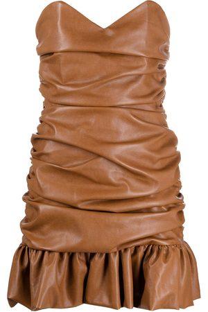 GIUSEPPE DI MORABITO Women Party Dresses - Ruched faux-leather mini dress