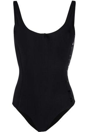 Moncler Women Bodies - Logo-print sleeveless bodysuit