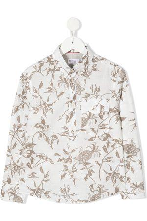 Brunello Cucinelli Floral-print button-up shirt