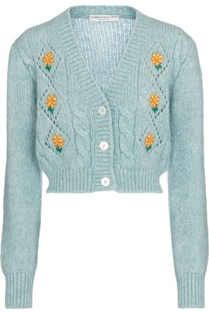 Alessandra Rich Women Cardigans - Embroidered floral cardigan