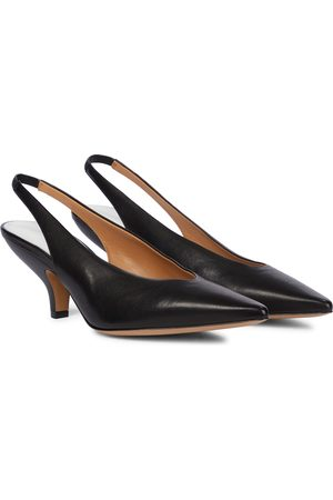 Maison Margiela Women Pumps - Leather slingback pumps