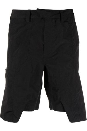 HELIOT EMIL Asymmetric straight-leg shorts