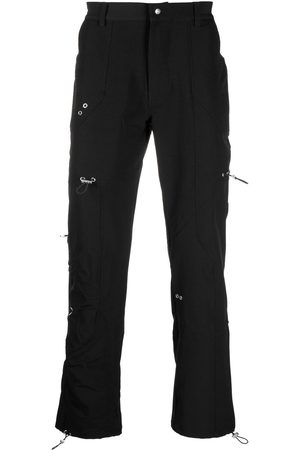 HELIOT EMIL Eyelet-embellished straight-leg trousers