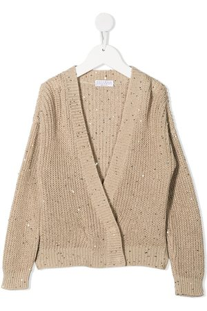 Brunello Cucinelli Sequin-embellished cardigan - Neutrals