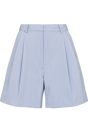DRIES VAN NOTEN High-rise cotton shorts