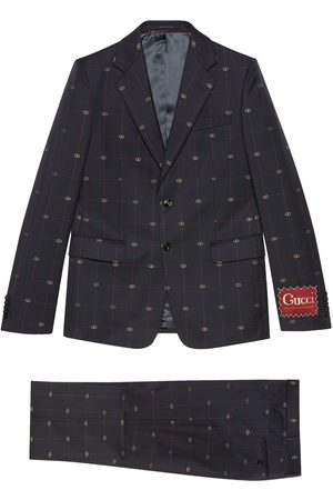 Gucci Men Suits - GG embroidered single-breasted suit
