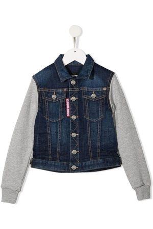 Dsquared2 Boys Denim Jackets - Panelled denim jacket