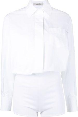 VALENTINO Women Shirts - Buttoned shirt playsuit