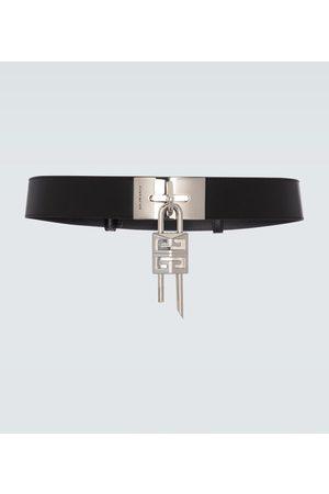 Givenchy Men Belts - Leather belt with padlock