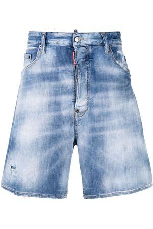 Dsquared2 Stonewashed distressed denim shorts