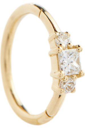Maria Tash 18kt single earring with diamonds