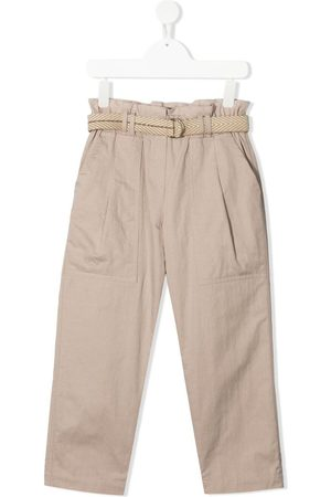 Brunello Cucinelli Paperbag-waist chino trousers