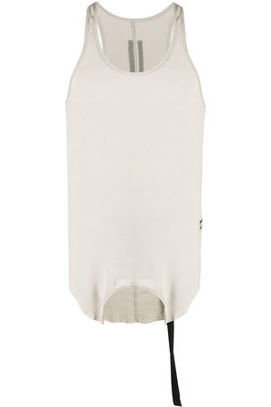 Rick Owens Men Tank Tops - Raw-edged vest - Neutrals