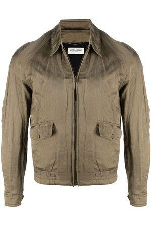 Saint Laurent Long-sleeve satin jacket