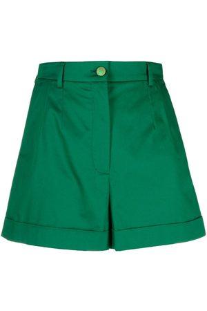 Dolce & Gabbana High-waisted cotton shorts