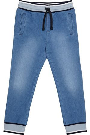 Dolce & Gabbana Boys Pants - Jersey denim sweatpants