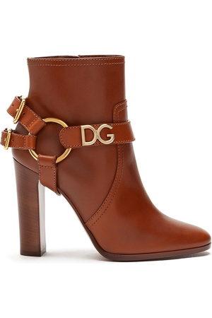 Dolce & Gabbana Caroline logo ankle boots