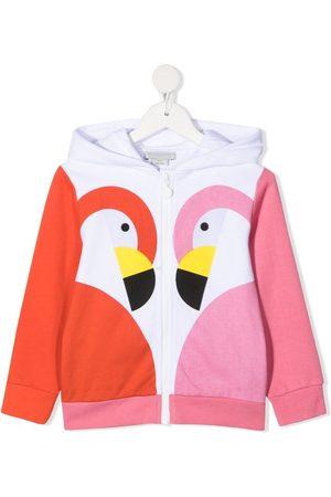 Stella McCartney Flamingo-print zipped hoodie
