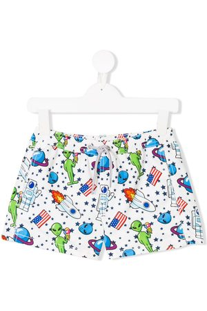 MC2 Saint Barth Kids Boys Swim Shorts - Alien print swim shorts