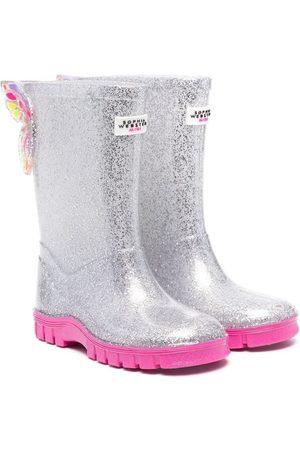 SOPHIA WEBSTER Girls Rain Boots - Glitter-detail wellies - Grey