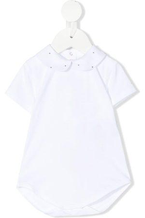 MISS BLUMARINE Sequin-detail short-sleeved polo shirt