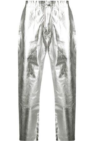 Comme des Garçons Metallic straight-leg trousers