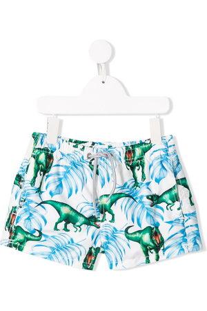 MC2 SAINT BARTH Boys Swim Shorts - Dino print swim shorts