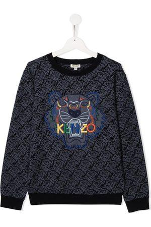Kenzo TEEN Tiger-embroidered sweatshirt
