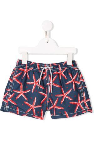 MC2 SAINT BARTH Boys Swim Shorts - Starfish print swim shorts