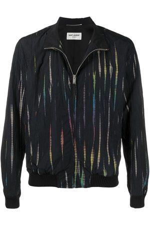 Saint Laurent Striped high-neck jacket