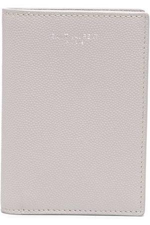 Saint Laurent Bi-fold logo wallet - Neutrals