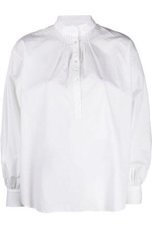 NILI LOTAN Mandarin collar pleat-detail shirt