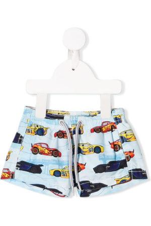 MC2 Saint Barth Kids Boys Swim Shorts - X Disney Race print shorts