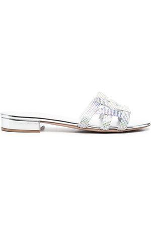 LE SILLA Cut-out detail sandals - Grey