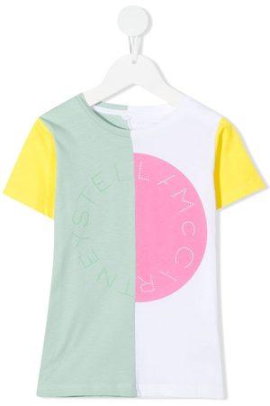 Stella McCartney Logo-print colour-block T-shirt