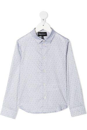 Emporio Armani Boys Shirts - Monogram-print shirt