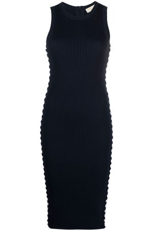 Michael Kors Lace-up detail fitted dress