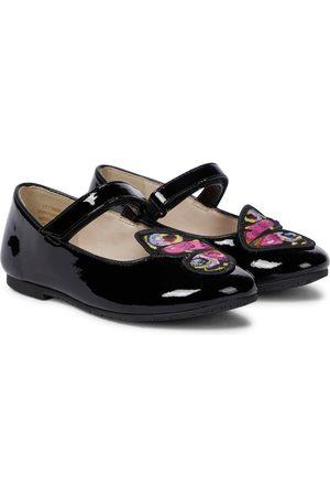 SOPHIA WEBSTER Girls Ballerinas - Butterfly patent leather ballet flats