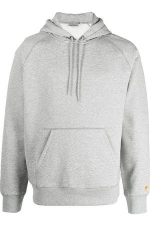 Carhartt Men Hoodies - Logo-detail sleeve hoodie - Grey