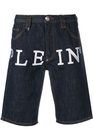 Philipp Plein Men Shorts - Logo denim shorts