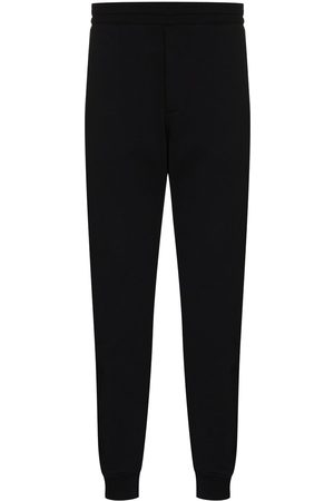 Alexander McQueen Men Sweatpants - Logo-tape straight-leg track pants