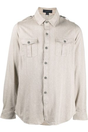 Sease Chest pocket long-sleeved shirt - Neutrals