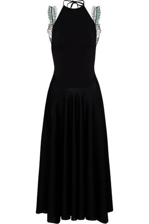 Victoria Beckham Lace-trimmed maxi dress