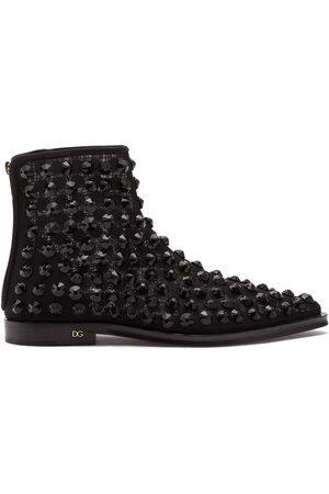 Dolce & Gabbana Rhinestone-embellished ankle boots