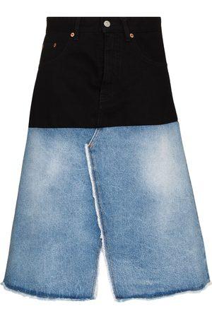 MM6 MAISON MARGIELA Two-tone midi denim skirt