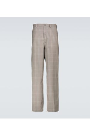 UNDERCOVER Checked wide-leg pants